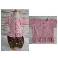 เสื้อลูกไม้เด็ก-รุ่นแมท-ภีรนีย์-สีชมพูกะปิ