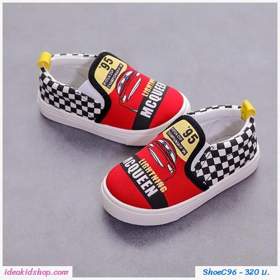 รองเท้าผ้าใบแคนวาส We are Car สีแดง