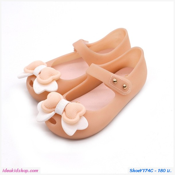 รองเท้ารัดส้นแต่งโบว์อมยิ้ม Melissa Bowy สีโอรส