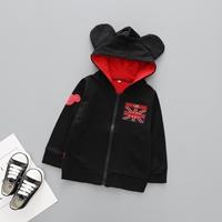 Jacket-เด็ก-Mickey-Mouse-มีฮู้ด-UK-สีดำแดง