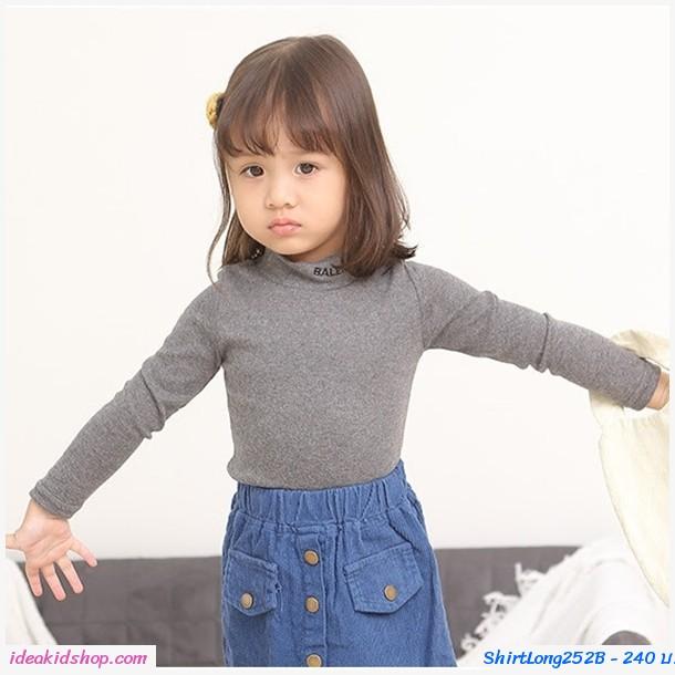 เสื้อแขนยาวคอเต่า สีเทา