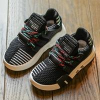 รองเท้าผ้าใบเด็กสไตล์สปอร์ต-QNM-สีดำ