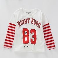 เสื้อแขนยาวแฟชั่น-ลายทาง-Right-Euro-83-สีขาวแดง