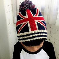 หมวกไหมพรมกันหนาว-ลายธงชาติอังกฤษ-