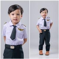 ชุดอาชีพนักบินเด็กชาย(4ชิ้น)