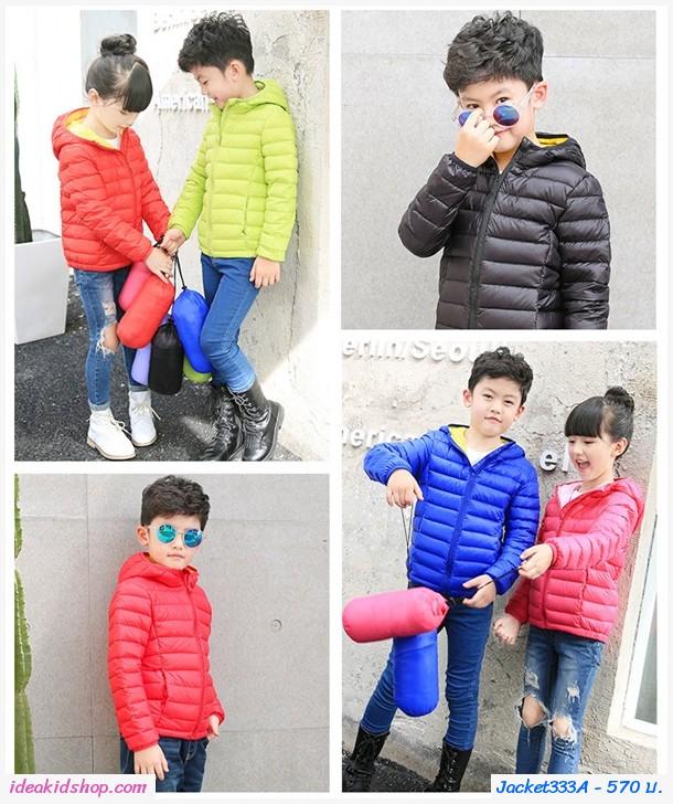 เสื้อกันหนาวมีฮู้ด สไตล์ยูนิโคล่ Ver2 สีน้ำเงิน