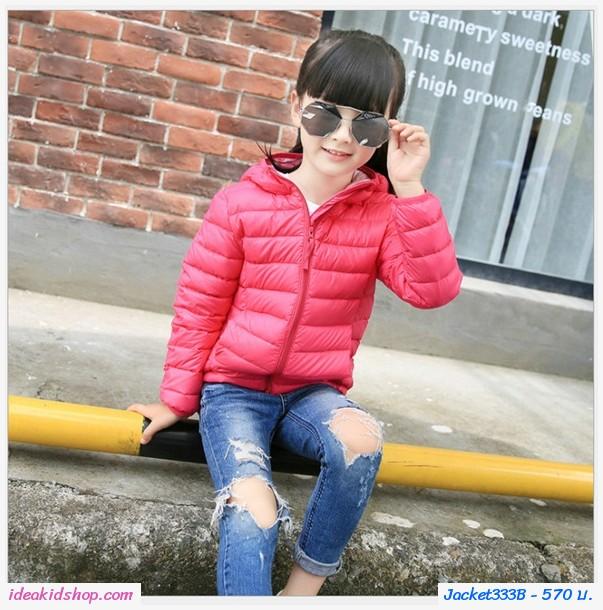 เสื้อกันหนาวมีฮู้ด สไตล์ยูนิโคล่ Ver2 สีชมพูRose