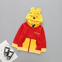 Jacket-เด็ก-Pooh-Baby-Bear-มีฮู้ด-สีแดงเหลือง