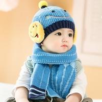 หมวกไหมพรม_ผ้าพันคอ-Babay-Smile-สีฟ้า
