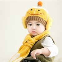 หมวกไหมพรม_ผ้าพันคอ-Babay-Smile-สีเหลือง