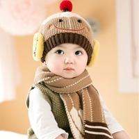 หมวกไหมพรม_ผ้าพันคอ-Babay-Smile-สีน้ำตาล