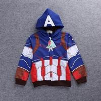 Jacket-เด็กแฟชั่น-Captain-America-มีฮู้ด-สีน้ำเงิน