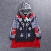 Jacket-เด็กแฟชั่น-Thor-มีฮู้ด-สีเทาแดง