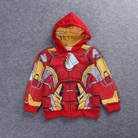 Jacket-เด็กแฟชั่น-Iron-Man-มีฮู้ด-สีแดง