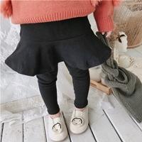 กระโปรงกางเกงหนูน้อยเชอร์รี่-พื้นเรียบ-สีดำ