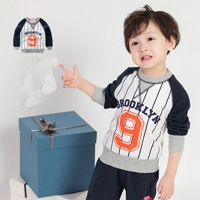 เสื้อแขนยาวเด็ก-ลายเบสบอล-Brooklyn-9-สีกรม