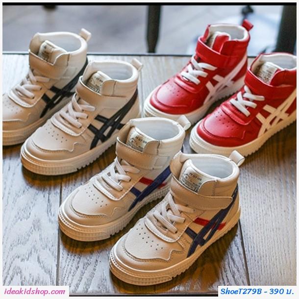 รองเท้าผ้าใบหุ้มข้อสไตล์โอนิ JP สีแดง