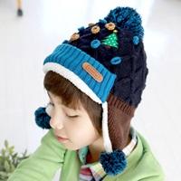 หมวกไหมพรม-เด็ก-Korea-สีกรม