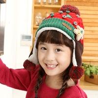 หมวกไหมพรม-เด็ก-Korea-สีแดง