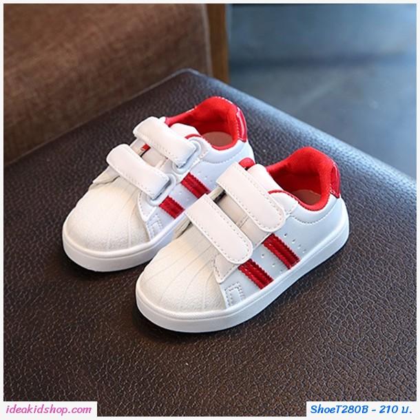 รองเท้าผ้าใบ Sport AD สีแดง