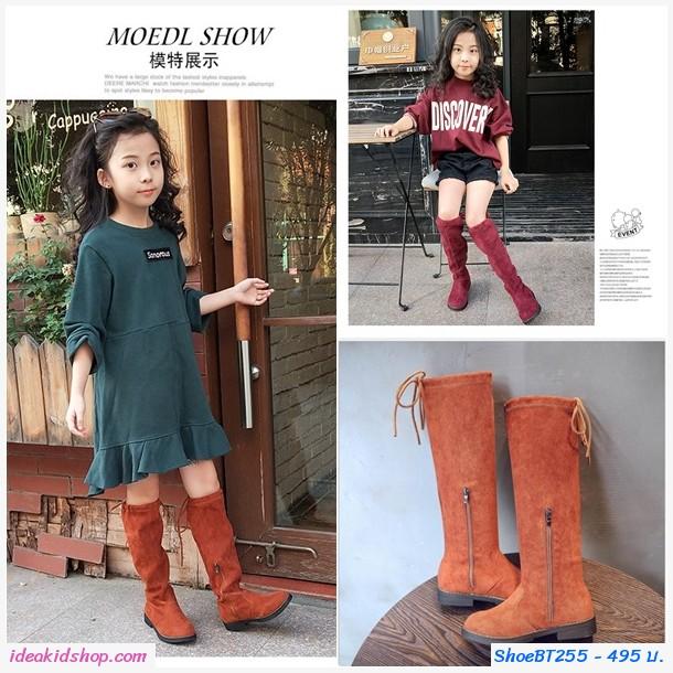 รองเท้าบูท แบบสูง Korean Girl สีแดง
