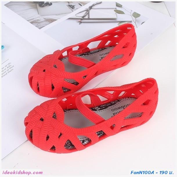 รองเท้าเด็ก Solid  Nest  สีแดง