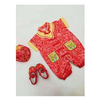 บอดี้สูทเด็กจีน-พร้อม-หมวก-แบบ-A-สีแดง