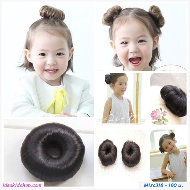 Hairball donut โดนัทดังโงะ สีดำ(แพคคู่)