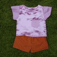 ชุดไทยเด็กชาย-เสื้อสีพื้น_กางเกงลายไทย-สีชมพู
