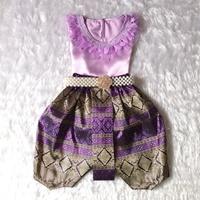 ชุดไทยเด็กหญิง-คอกลมลูกไม้-สีม่วง