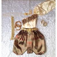 ชุดไทยเด็กสไบปักลูกไม้_โจงลายไทย-แม่การะเกด-สีทอง