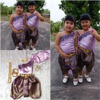 ชุดไทยเด็กสไบปักลูกไม้_โจงลายไทย-แม่การะเกด-สีม่วง