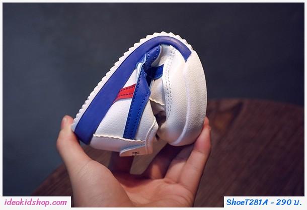 รองเท้าผ้าใบ Sport โอนิ สีขาวน้ำเงิน