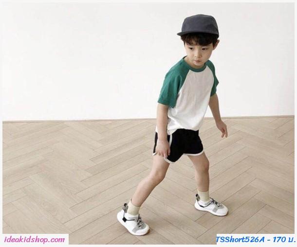 กางเกงขาสั้นแฟชั่น Sport สีดำ