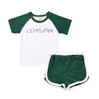 ชุดเสื้อกางเกงเด็ก-Sport-ลายตัวเลข-สีเขียว