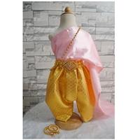 ชุดไทยเด็ก-โจงกระเบนดิ้นทอง_-สไบสีชมพู