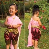 ชุดไทยสไบ_โจงกระเบนผ้าแจ็คการ์ด-การะเกด-สีชมพู