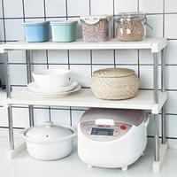 ชั้นวางของ-Kitchen-Desktop-Stainless-Steel-สีขาว