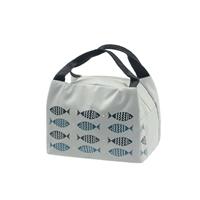 กระเป๋าเก็บอุณหภูมิ-ลายปลา-สีเทาอ่อน