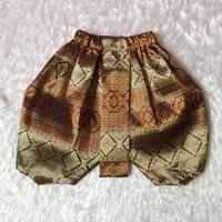 ชุดไทยเด็ก-โจงกระเบนผ้าทอ-สีทองน้ำตาล