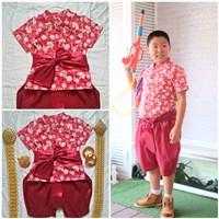 ชุดไทยเด็กชาย-ลายดอก-พี่หมื่น--สีแดง