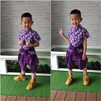 ชุดไทยเด็กชาย-ลายดอก-พี่หมื่น-สีม่วง