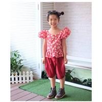 ชุดไทยเด็กหญิง-ลายดอก-สีแดง