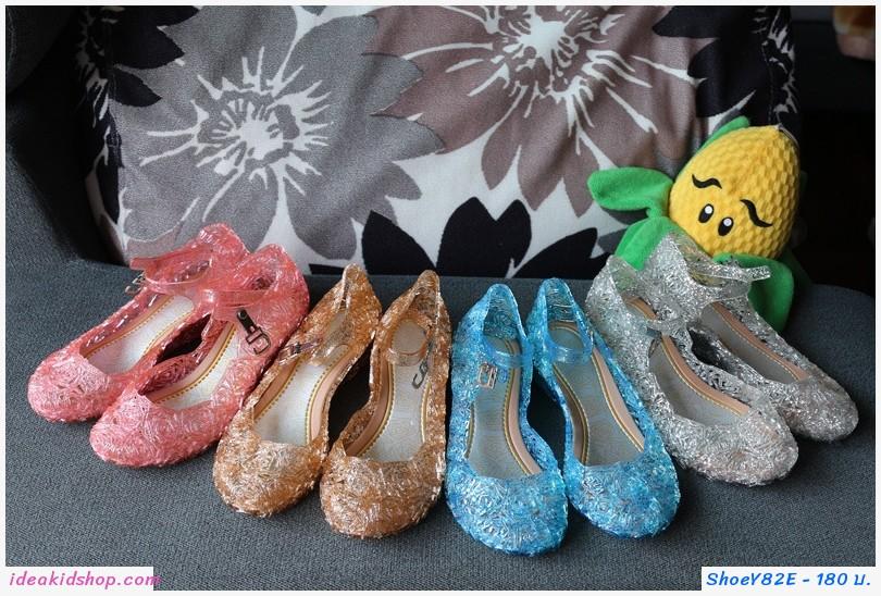 รองเท้า Frozen Cinderella princess รังนก สีชมพู