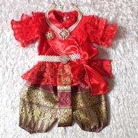 ชุดไทย-แม่พลอยลูกไม้-ร.5-โจงลายไทย-สีแดง