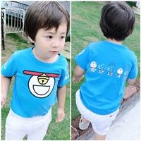 เสื้อยืดเด็กลายการ์ตูนกระพรวน-Doraemon-สีฟ้า