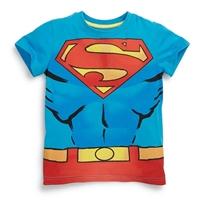 เสื้อยืดเด็กแฟชั่นยอดมนุษย์-Superman-สีฟ้า
