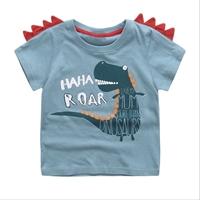 เสื้อยืดหนูน้อยไดโนเสาร์-HAHA-ROAR-สีฟ้า