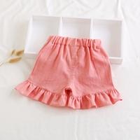 กางเกงขาสั้นแต่งระบาย-สาวน้อยบาร์บี้-สีชมพูโอรส