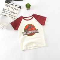 เสื้อยืดเด็ก-The-Lost-World-Jurassic-Park-สีแดง